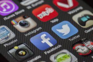 Foto av tastene på en smarttelefon