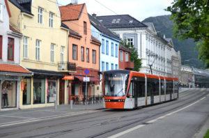 Bilde av Bybanen i Bergen